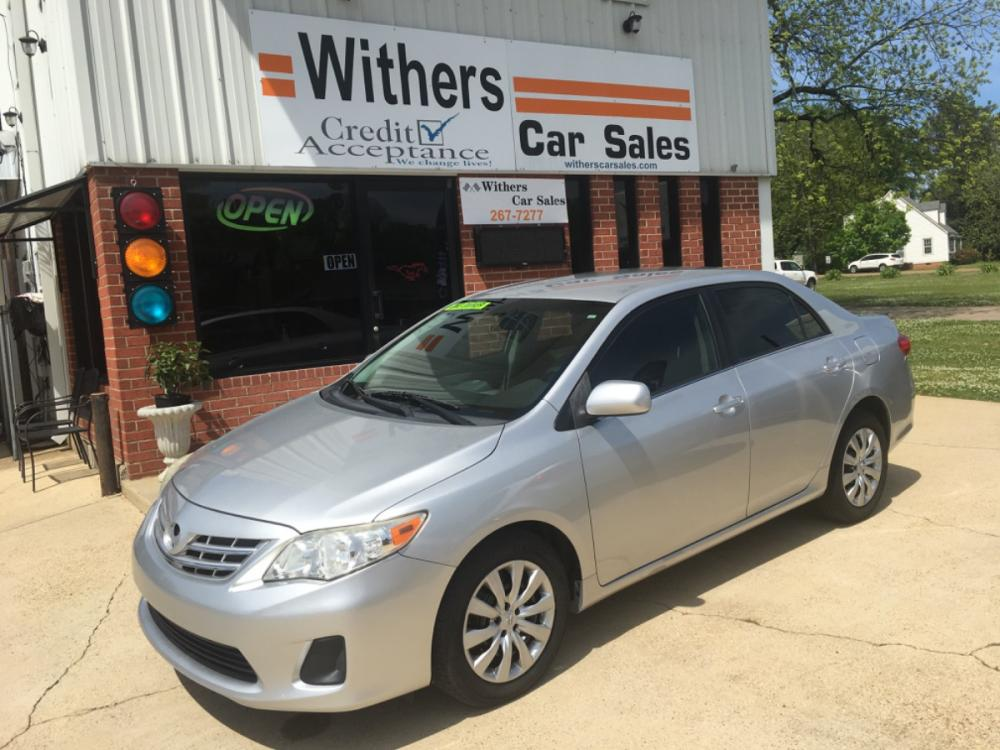 2013 Silver /Gray Toyota Corolla S 4-Speed AT (JTDBU4EE1DJ) with an 1.8L L4 DOHC 16V engine, 4-Speed Automatic transmission, located at 204 Hwy. 16 East, Carthage, 39051, (601) 267-7277, 32.734486, -89.531761 - Photo #0