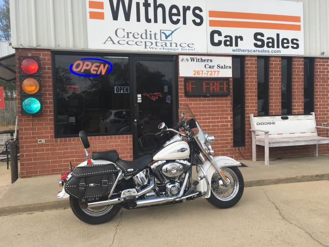 2006 White Harley-Davidson FLSTCI - (1HD1BWB1X6Y) with an 1450CC engine, 5 speed transmission, located at 204 Hwy. 16 East, Carthage, MS, 39051, (601) 267-7277, 32.734486, -89.531761 - Photo #0